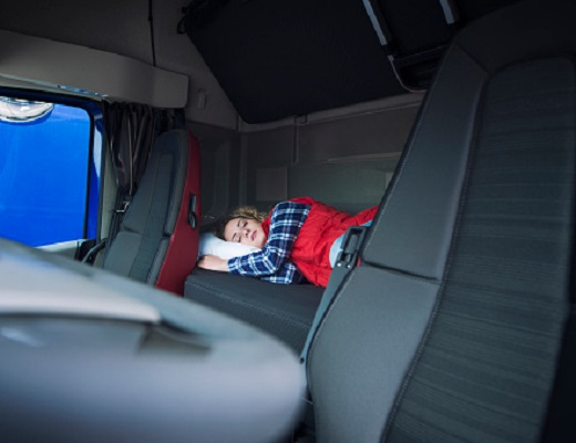 how to sleep in a day cab truck