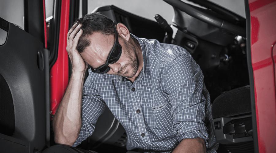stresses truck driving